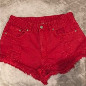 H&M - Red Shorts
